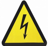 Опасность поражения электрическим током (фотолюминесцентный)