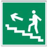 Направление к эвакуационному выходу по лестнице (фотолюминесцентный)