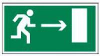Направление к эвакуационному выходу (фотолюминесцентный)